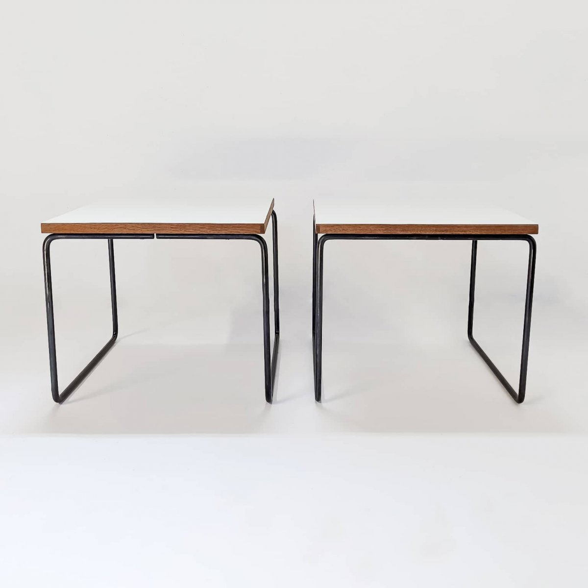 Duo Of Tables By Pierre Guariche, Steiner Edition 1955