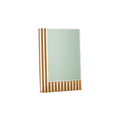 Italian Mirror From The 70s, In Wood And Brass.