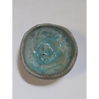 Coupe En Céramique 1950, Signée Accolay