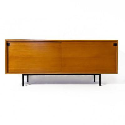 Sideboard By Alain Richard In Elm, Edited By Meubles Tv In The 1950s