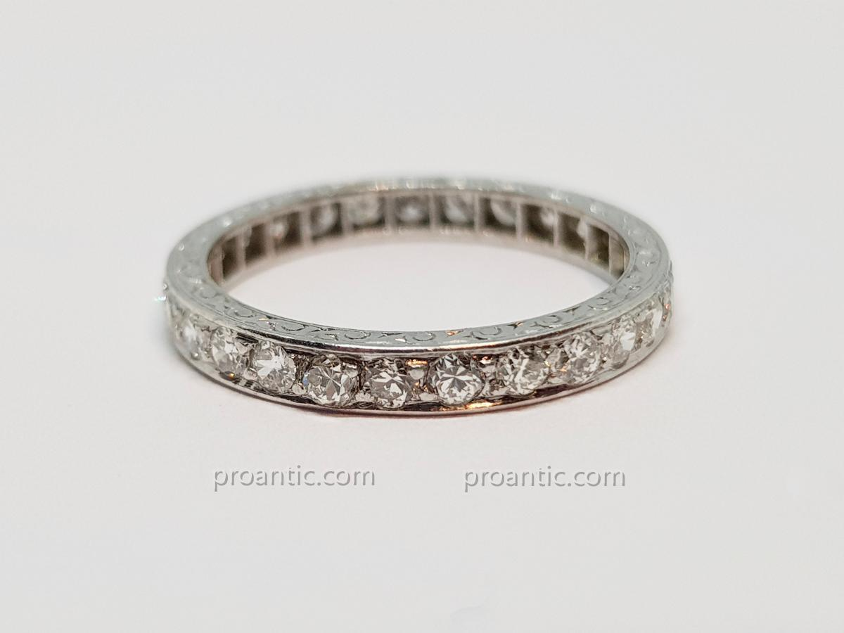 Alliance Diamants 0.80 carat En Platine 850/1000 3.04 Grammes