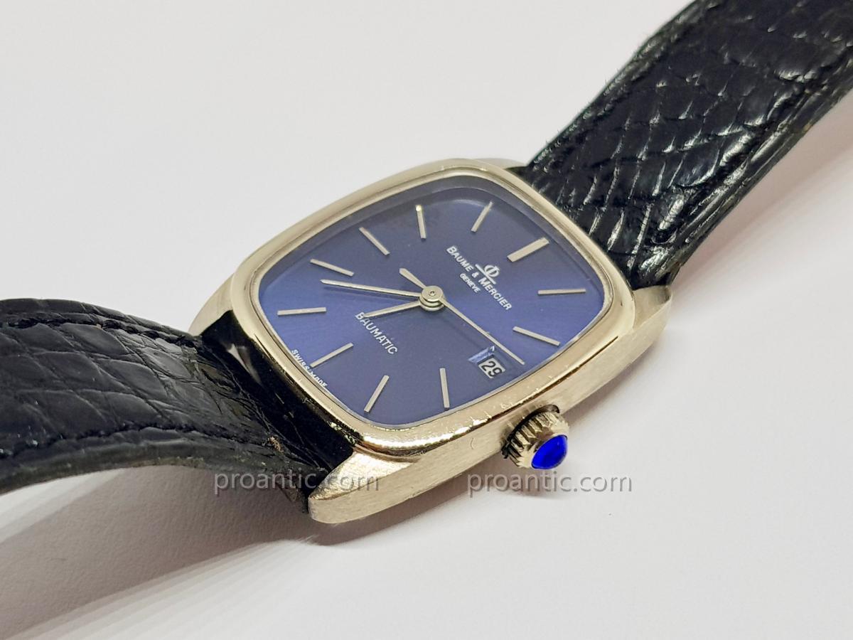Baume & Mercier Baumatic Watch In White Gold 18 Carats 750/1000 - Crocodile Leather-photo-2