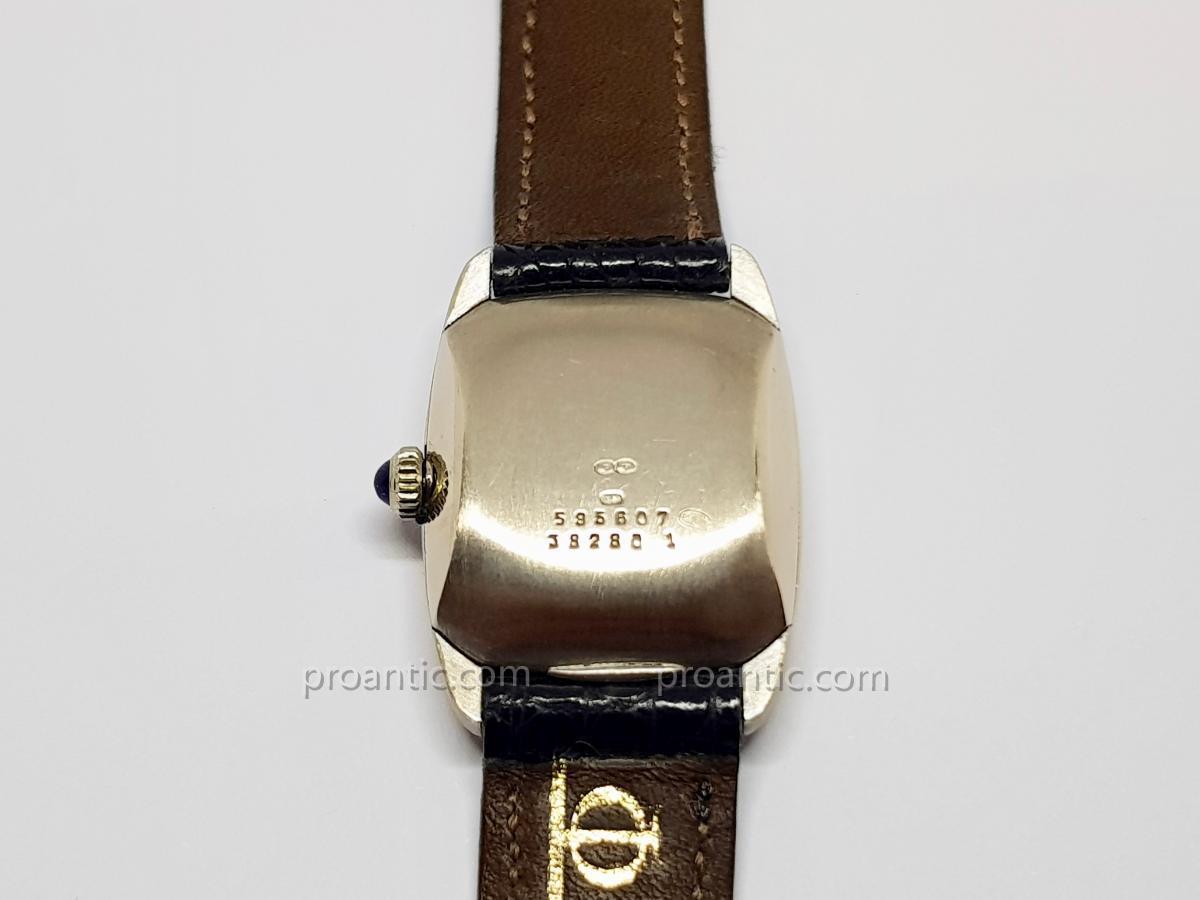 Baume & Mercier Baumatic Watch In White Gold 18 Carats 750/1000 - Crocodile Leather-photo-3