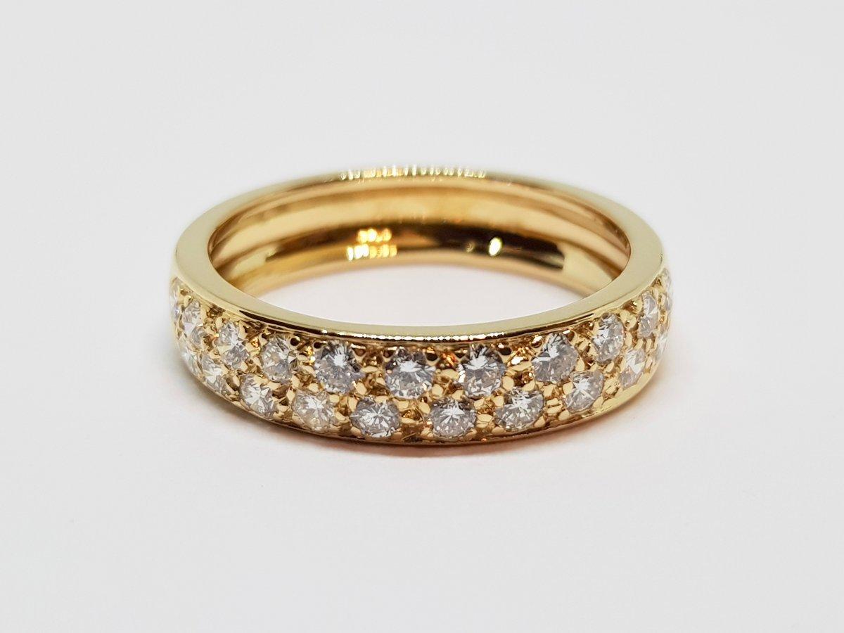 Alliance Diamants 0.70 Carat En Or Jaune 18 Carats 750/1000 4.52 Grammes