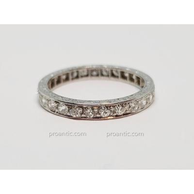 Alliance Diamants 0.80 carat En Platine 850/1000 3.04 Grammes