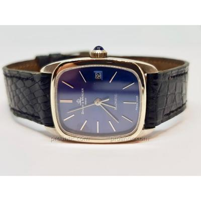 Baume & Mercier Baumatic Watch In White Gold 18 Carats 750/1000 - Crocodile Leather