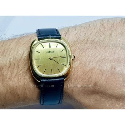 Old Jaeger Paris Watch - Movement Manual - Golden Steel / Leather