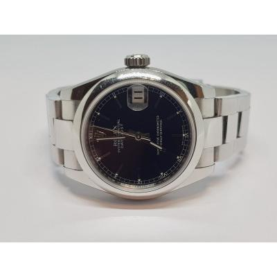 Montre Rolex Lady-datejust Oyster, 28 Mm, Acier Oystersteel Black