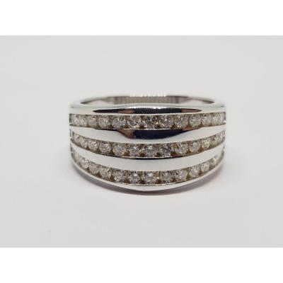 1 Carat Diamond Ring In 18k White Gold 750/1000 6.25 Grams