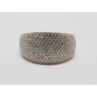 1 Carat Diamond Ring In 18k White Gold 750/1000 7.71 Grams