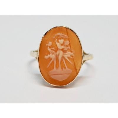 Old Cameo Ring 18k Yellow Gold 750/1000 2.15 Grams / Vintage