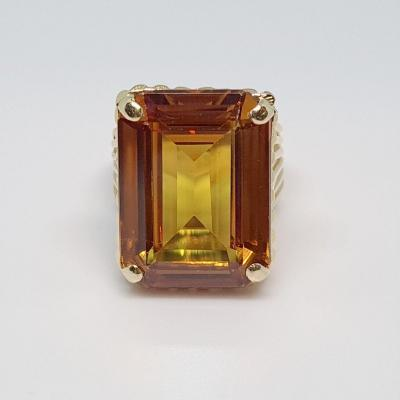 23k Old Synthetic Sapphire Ring In 18k Yellow Gold 10.36 Grams