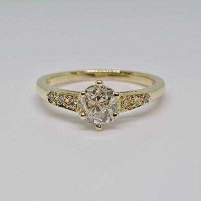 Ring - Solitaire Diamond 0.70 Carat In 18k Yellow Gold 3.12 Grams