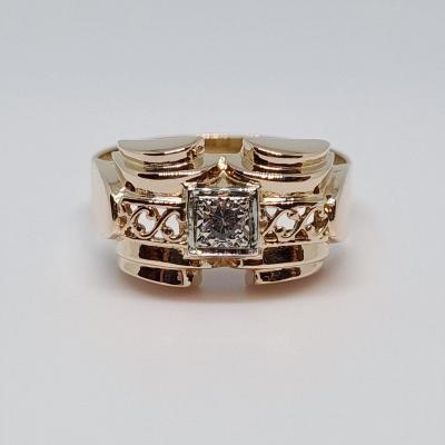 Old Diamond Ring 0.06 Carat 18k Yellow Gold 750/1000 2.75 Grams
