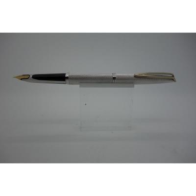Waterman Fountain Pen Cf 1950 In Silver