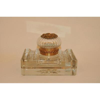 Baccarat Crystal Inkstand Nineteenth