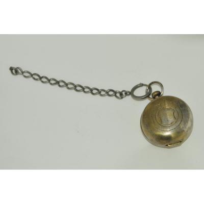 Shaped Travel Inkwell Pocket Watch Nineteenth