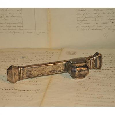 """Folder Holds Otoman """"divit"""" Made In The End Nineteenth In Sterling Silver"""