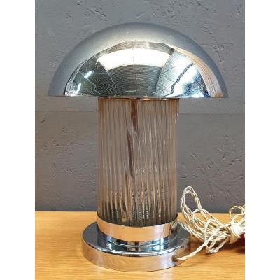Mushroom Art Deco Lamp By Henri Petitot