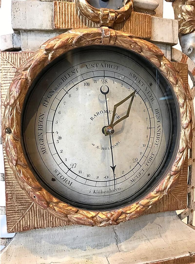 Danish Barometer Of The XVIIIth Century-photo-1