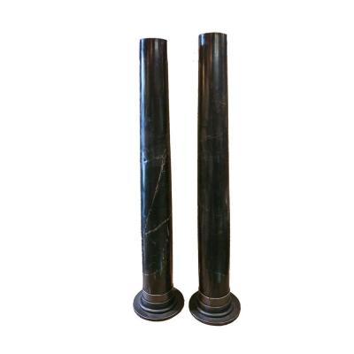 Pair Of Columns In Black Marble