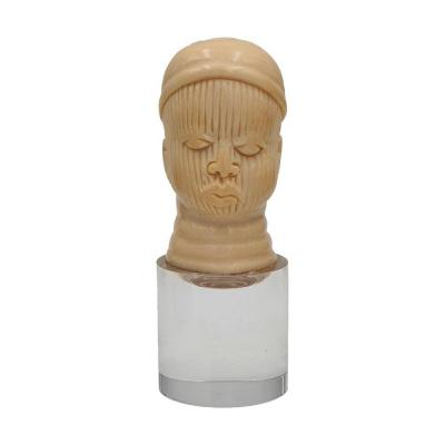 African Head In Ivory