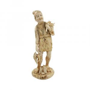 Figurine Okimono En Ivoire Du Japon