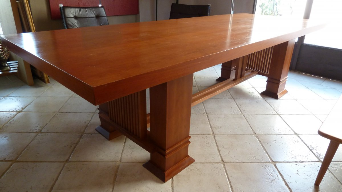 Large Table By Franck Lloyd Wright