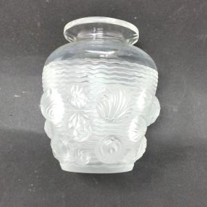 Vase Verlys Aux Coquillages art déco