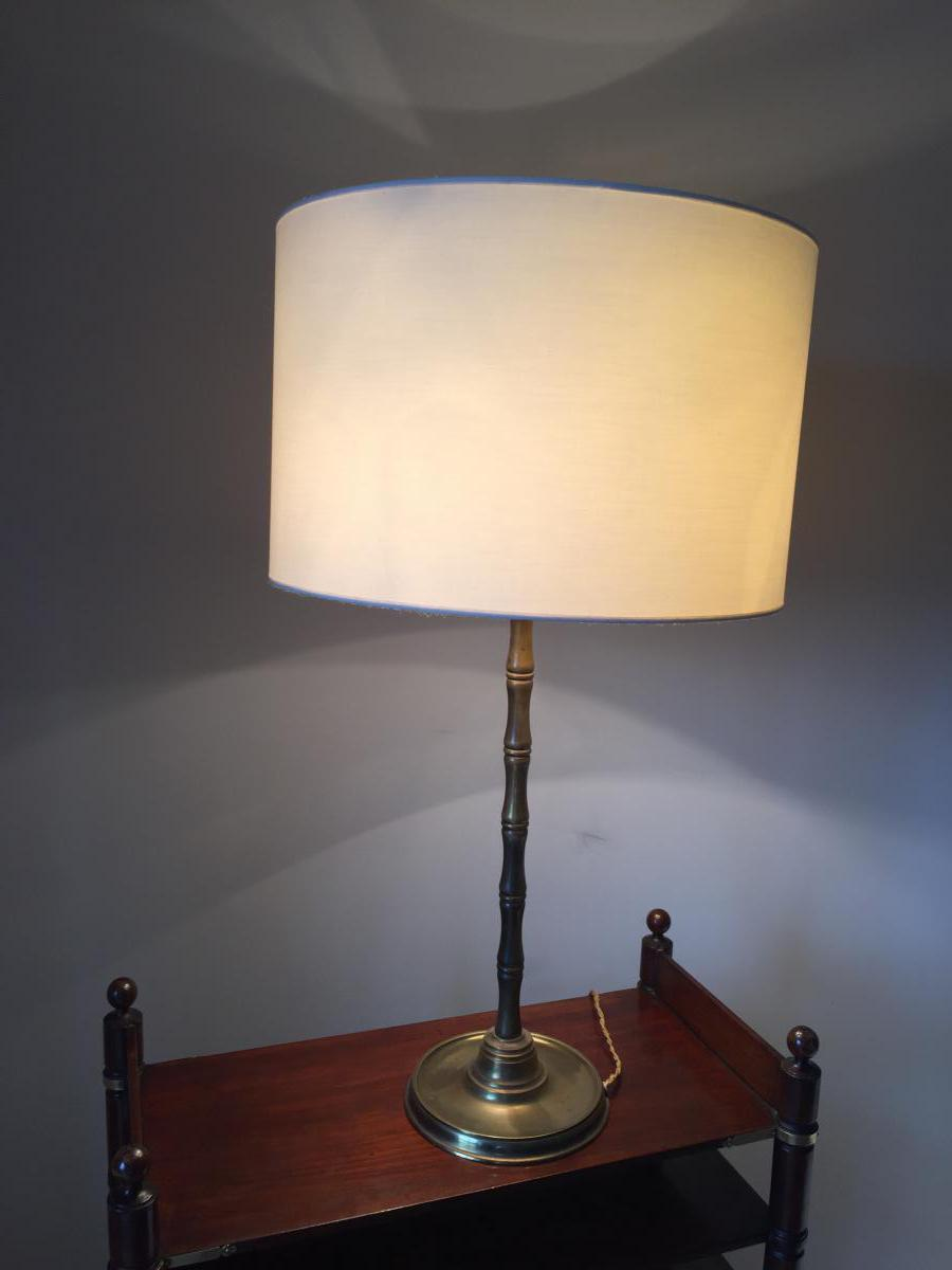 Pied De Lampe Bambou Bronze Dor Maison Malabert Lampes
