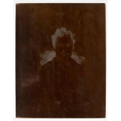 Rare Copper Plate Of Young Balzac Portrait