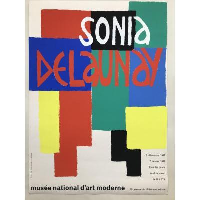 Sonia Delaunay «Affiche Pour l'Exposition Au Musée National D'art Moderne Paris 1967»