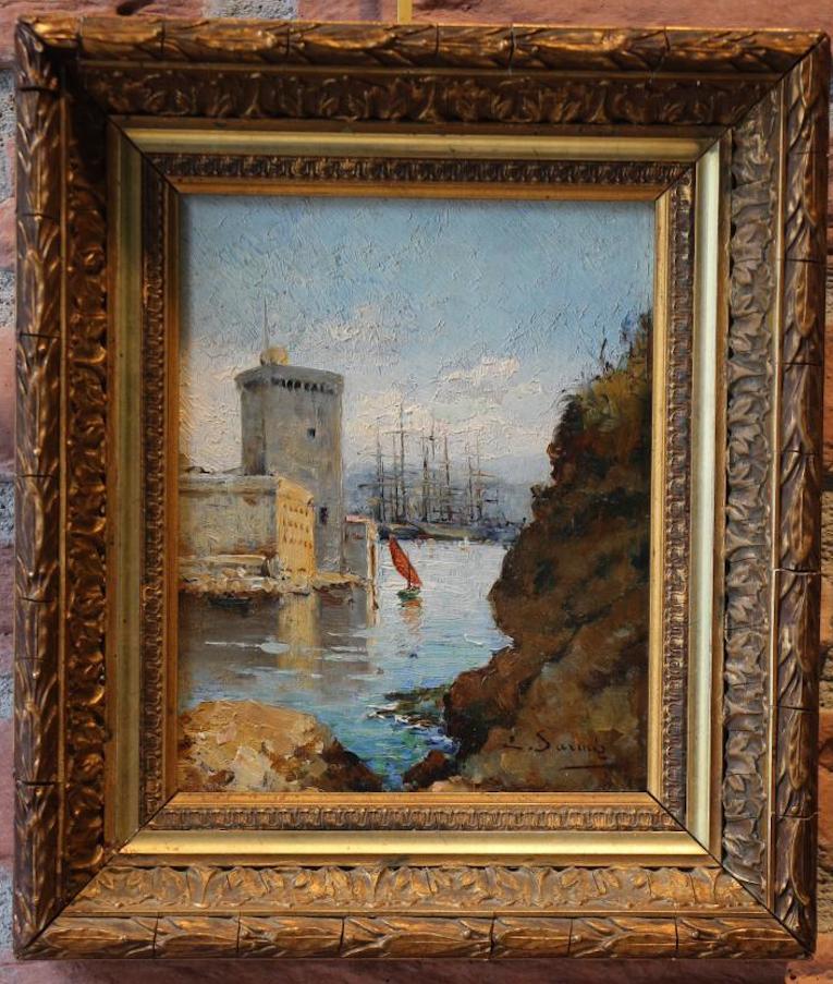Tableau de marine, XIXe, huile sur panneau de bois  ~ Panneau Bois Marine
