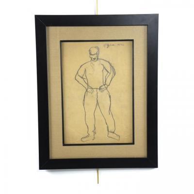 Emile Gilioli, XXe, crayon noir sur papier