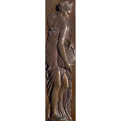 Ferdinand Barbedienne (1810-1892) d'après Jean Goujon (1510-1572). Naïade en bronze.