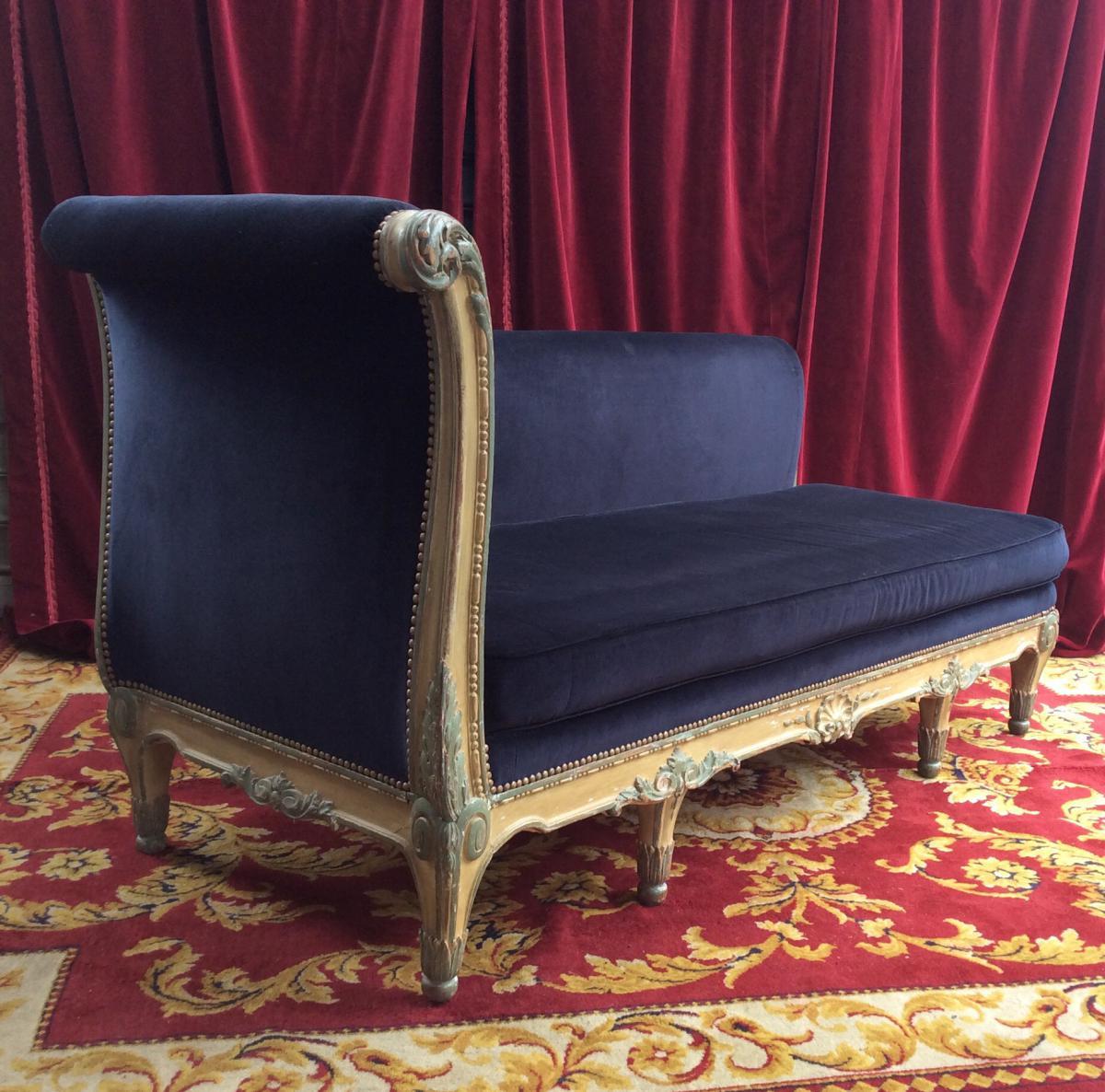 m ridienne de style louis xv fin xix me banquettes canap s. Black Bedroom Furniture Sets. Home Design Ideas