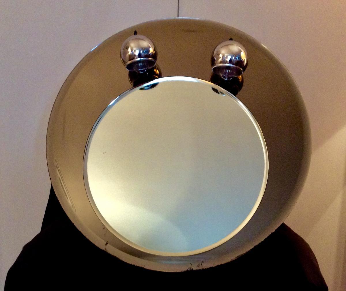 1970s Round Mirror