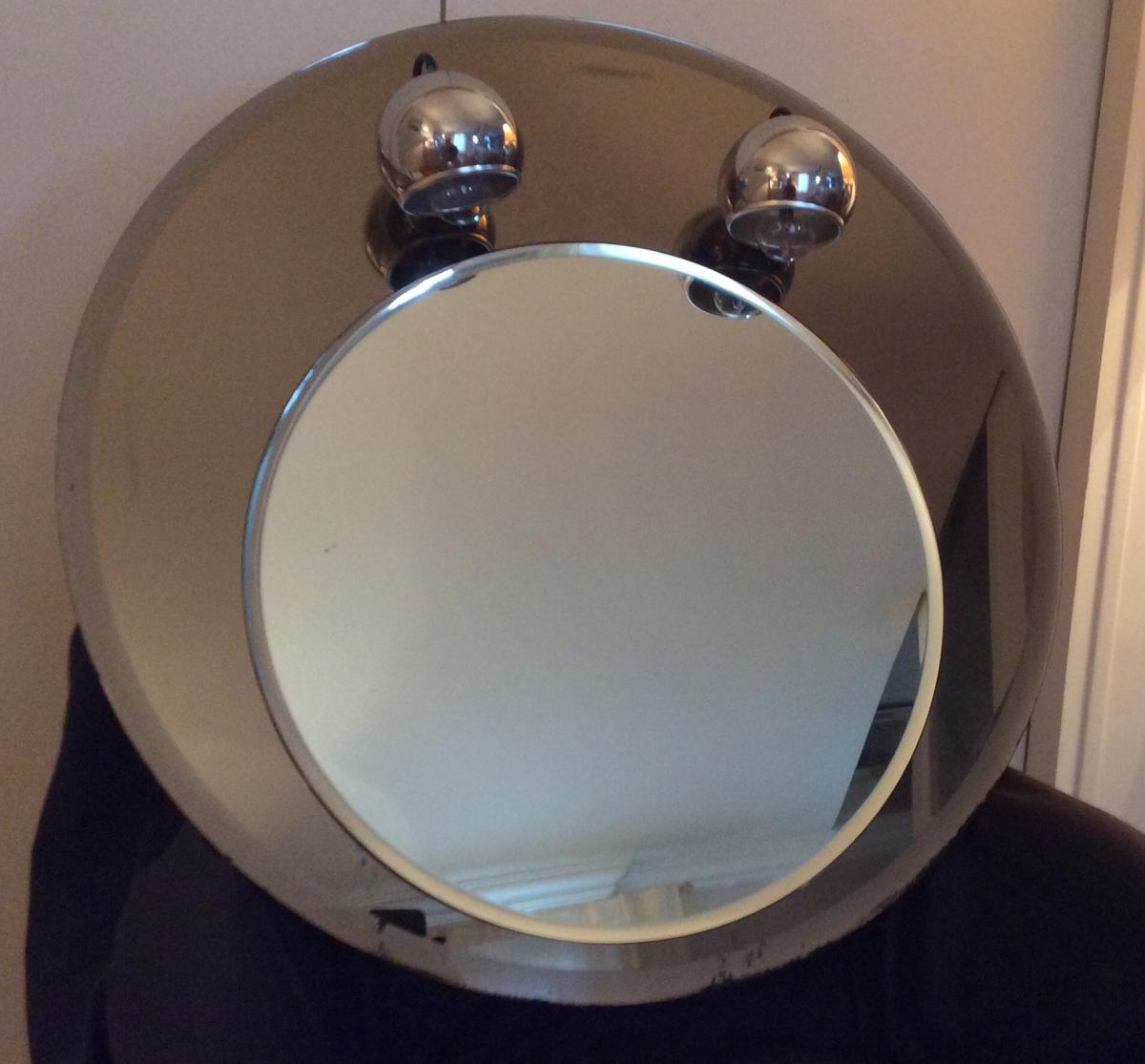 1970s Round Mirror-photo-2