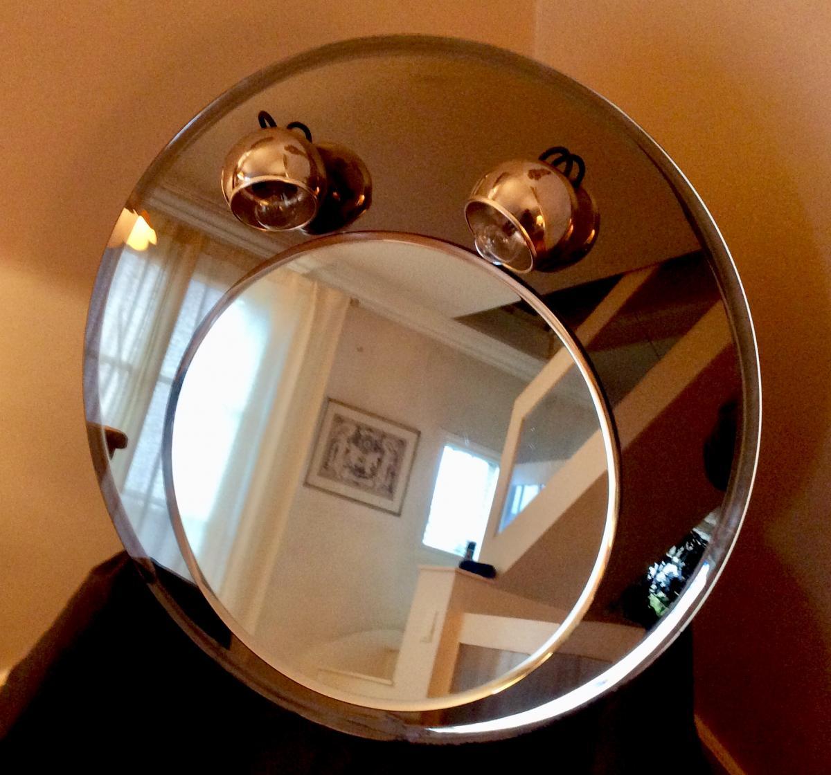 1970s Round Mirror-photo-3