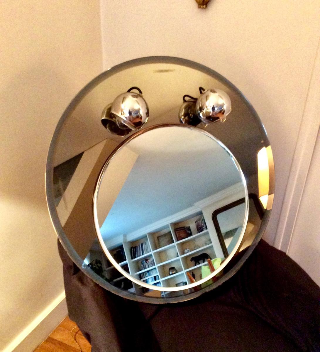 1970s Round Mirror-photo-4