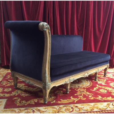 Méridienne De Style Louis XV Fin XIXÈme