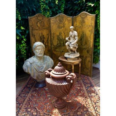 Vase Couvert Imitation Porphyre