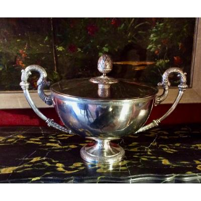Lined Metal Tureen Charles X