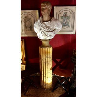 Buste Empereur Romain En Terra Cota Circa XXÈME
