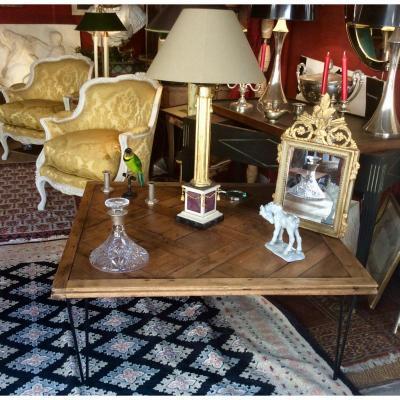 Table Basse Parquet Versailles XVIII ème