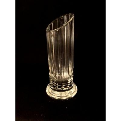 Vase En Cristal de DAUM En Forme De Colonne Tronquée