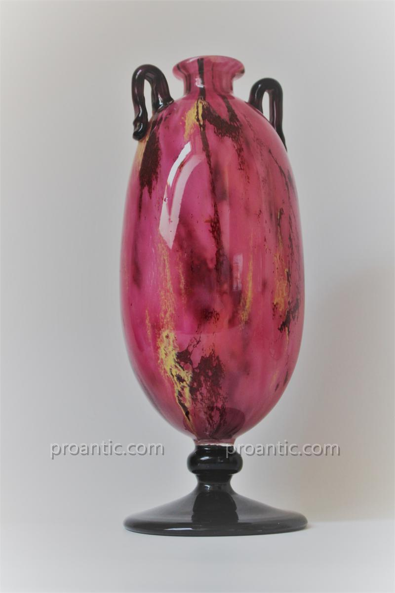 """Charles Schneider -  Vase """" Jades """". ca 1925."""