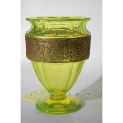 Vase Ouraline Ludwig Moser 1920-25