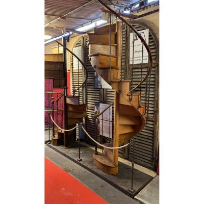 Iron And Oak Spiral Staircase