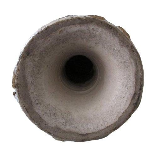 Vase en forme de lampe de mosquée en céramique Qajar-photo-1